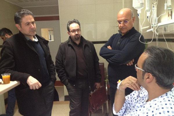 سرپرست دفتر موسیقی به عیادت شهرام شکوهی رفت